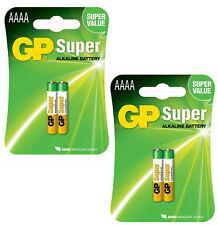GENUINE GP 4X AAAA 1.5V BATTERY FOR DIGITAL PENS HEADLAMP JABRA BLUETOOTH MN2500