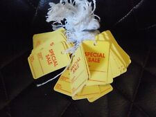 Hanging Price Tags Special Sale String Hang Tag Approximately 95 Yellow Tags NEW