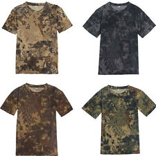 Men's Camouflage Tactical Military Short Sleeve Combat Army Camo T-Shirt Tee Top