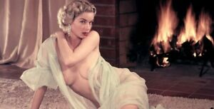 Postcard Vintage Pin up Nude 1950s 1960s Transformed into Colour