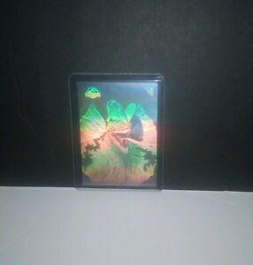1993 J.PARK/TOPPS ACTION HOLOGRAM ERROR/VARIATION CARD- SPITTING RAPTOR (SILVER)