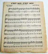 Partition sheet music CLAUDE FRANCOIS : C'est Moi... C'est Moi * 60's