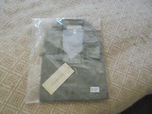 mens safari shirt short sleeved Olive size xxl