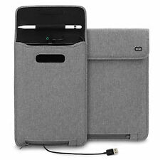 iPad Pro 9.7 Case, CaseCrown Power Sleeve w/ Pencil Holder MFI Certified Charge