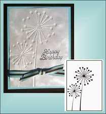 """Ball Flowers embossing folder - Nellie Snellen Embossing Folders 4""""X6"""" HSF001"""
