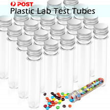 45ml Plastic Lab Test Tubes w/ Metal Caps Screw Top Candy Bath Salt Container AU