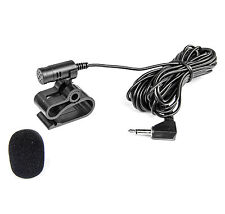 Microfono per Alpine Clarion Kenwood Radio TomTom NAVI Jack da 3,5mm + protezione antivento