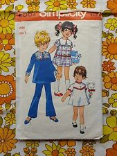 SIMPLICITY 8567 sewing pattern CHECKED / COMPLETE 1970 vintage retro child dress