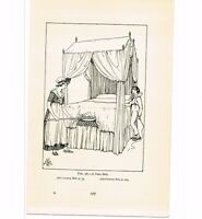 TENT BED, BOOK ILLUSTRATION, c1919