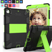 Hybrid Shockproof Adjustable Stand Case For Apple iPad 9.7 5th 6th Generation