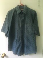 Vintage Mens BUGLE BOY BUTTON DOWN Shirt Oversized Medium retro 80s 90s EUC