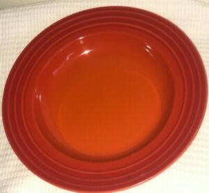 """LE CREUSET Cerise Cherry Red 101/4"""" Dinner spaghettis/soup one Plate Stoneware"""