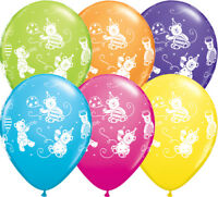 """Qualatex Cuddly Teddy Bears 11"""" Helium Quality Bright Colour Party Balloons"""