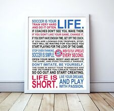 """Bayern Munich """"Soccer Is Your Life"""" Manifesto Poster, 17"""" x 22"""""""