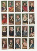 1935 Carreras Celebrities of British History Tobacco Cards Complete Set of 50