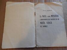 BROCHURE COMEDIENS CHATEAU DE BELLE-FILLE SARTHE GERARD CHEVALIER 1942