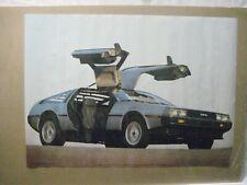 DE LOREAN DMC VINTAGE POSTER BAR GARAGE MAN CAVE 1983 CAR CNG876