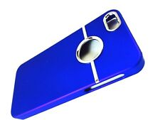 Deluxe Blue Hard Case Cover Chrome for Apple iPhone 5 SE 5S + Screen Protector