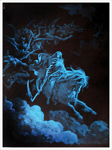 """Death Rides A Pale Horse Non-Flocked Blacklight Poster 23"""" X 31"""""""