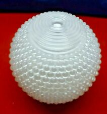 Vintage 50's White Milk Glass  12 inch Globe 3 3/4 inch Fitter