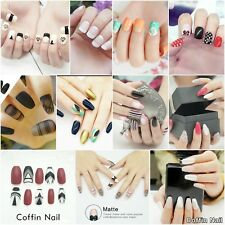 Stiletto Nails Coffin Nails Short Nail False Tips With Glue Nails Choose Design