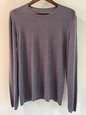 John Varvatos Silk Cashmere Crew Neck Sweater - Medium