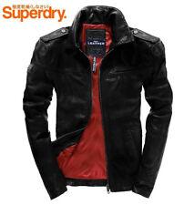 Superdry Hero Benjamin Veste En Cuir/NEUF/Noir/Taille XL
