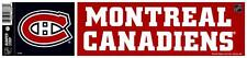 "(HCW) Montreal Canadiens 3"" x 12"" Bumper Strip NHL Sticker Decal *FREE SHIP"