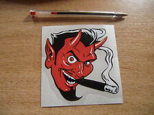Smoking Devil - sticker/decal 100mm ~ Hot-Rod / Custom style