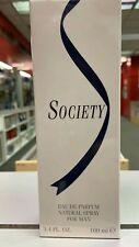 SOCIETY  EAU DE PARFUM 3.4 OZ /100 ML SPY COLOGNE FOR MEN POUR HOMME NEW IN BOX