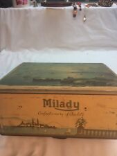 Empty MILADY CONFECTIONERY OF QUALITY Tin.