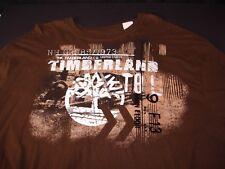 TIMBERLAND Mens Long Sleeve Crew Neck T Shirt Sweater Brown XL
