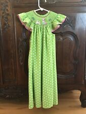 Mom And Me Green Smocked Dress Size 6