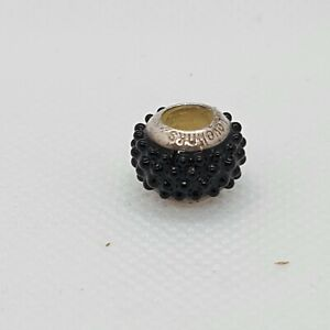 Lovelinks Black Sea Charm Bead 925 Stirling Silver