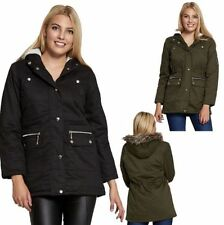 Faux Fur Cotton Winter Coats & Jackets for Women