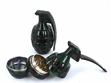 Grinder 3 Part Grenade Styled Magnetic Crusher Tobacco Herbs With Storage
