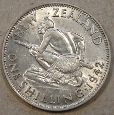 New Zealand 1942 Shilling XF