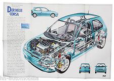 Opel Corsa Poster Beilage Opel Start 1993 Auto PKWs Deutschland Autoposter