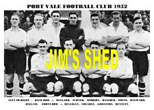 PORT VALE F.C.TEAM PRINT 1952 (HANCOCK/POTTS/SPROSON/CHEADLE)