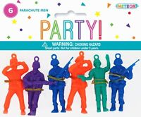 TOY PARACHUTE MEN PACK OF 6 PARTY TOY SUPPLIES