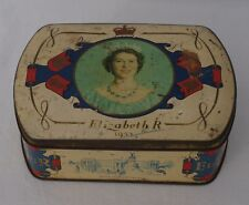 Queen Elizabeth II Coronation Commemorative Sweet / Toffee Tin 1953 (B10)