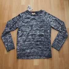 NUOVO Nudie Jeans Knitted Pullover Maglione Hans Noise Navy M