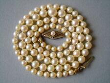 Edle alte Akoya Perlen Verlaufskette Jka 333/8K GG Gold Verschluß 14,6 g/51,5 cm