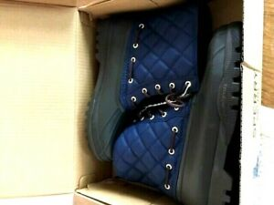 NEW Sperry Top-Sider Women's Duck Boots Navy & Brown New with Tags and Box sz 10