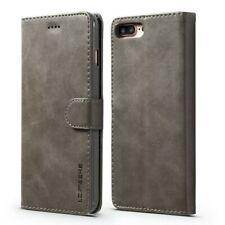LC.IMEEKE Wallet / portemonne hoesje voor iPhone 8 Plus / iPhone 7 Plus - Grijs