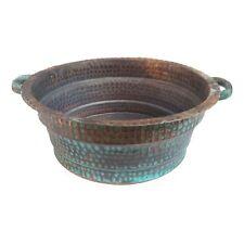 Green Patina Rustic Copper Foot Hand Soak Massage Spa Beauty Salon Manicure Bowl
