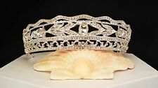 Goddess Tiara Crystal Silver Plated Wedding Tiara / sweet 16 Tiara #T-005-A