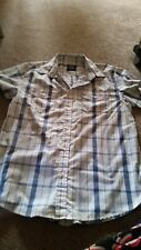 Men's L shirt, blue and white check, vgc, Store 21, cotton / polyester