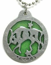 Windows to Stars pendant  - Taurus (April 21-May 21) light green resin