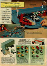 1975 ADVERTISEMENT Tootsietoy Construction Hauling Evel Knievel Stunt Matchbox